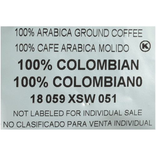 CAFÉ COLLECTIONS 100% Colombian Coffee, Roast & Ground, 2 oz. Bag (Pack of 128)