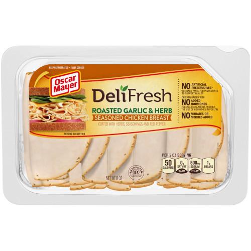 Oscar Mayer Deli Fresh Roasted Garlic & Herb Chicken Tray, 8 oz
