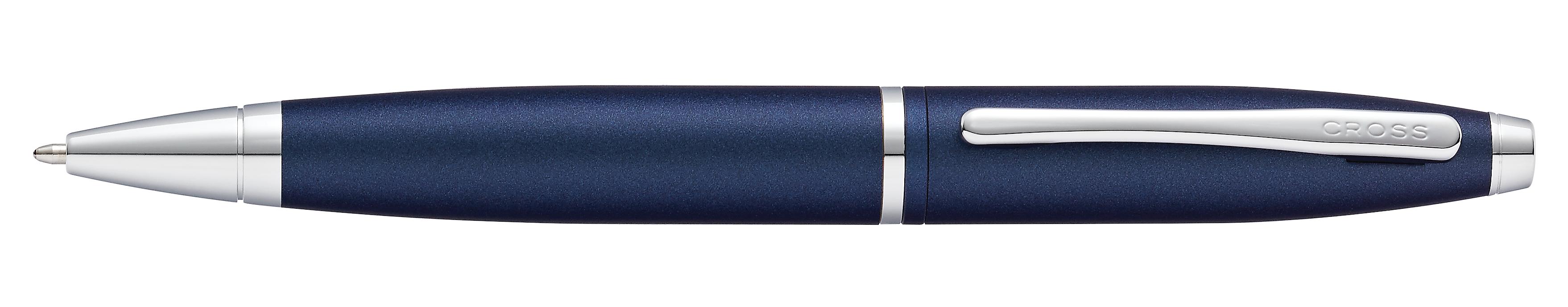 Calais Matte Metallic Midnight Blue Ballpoint Pen