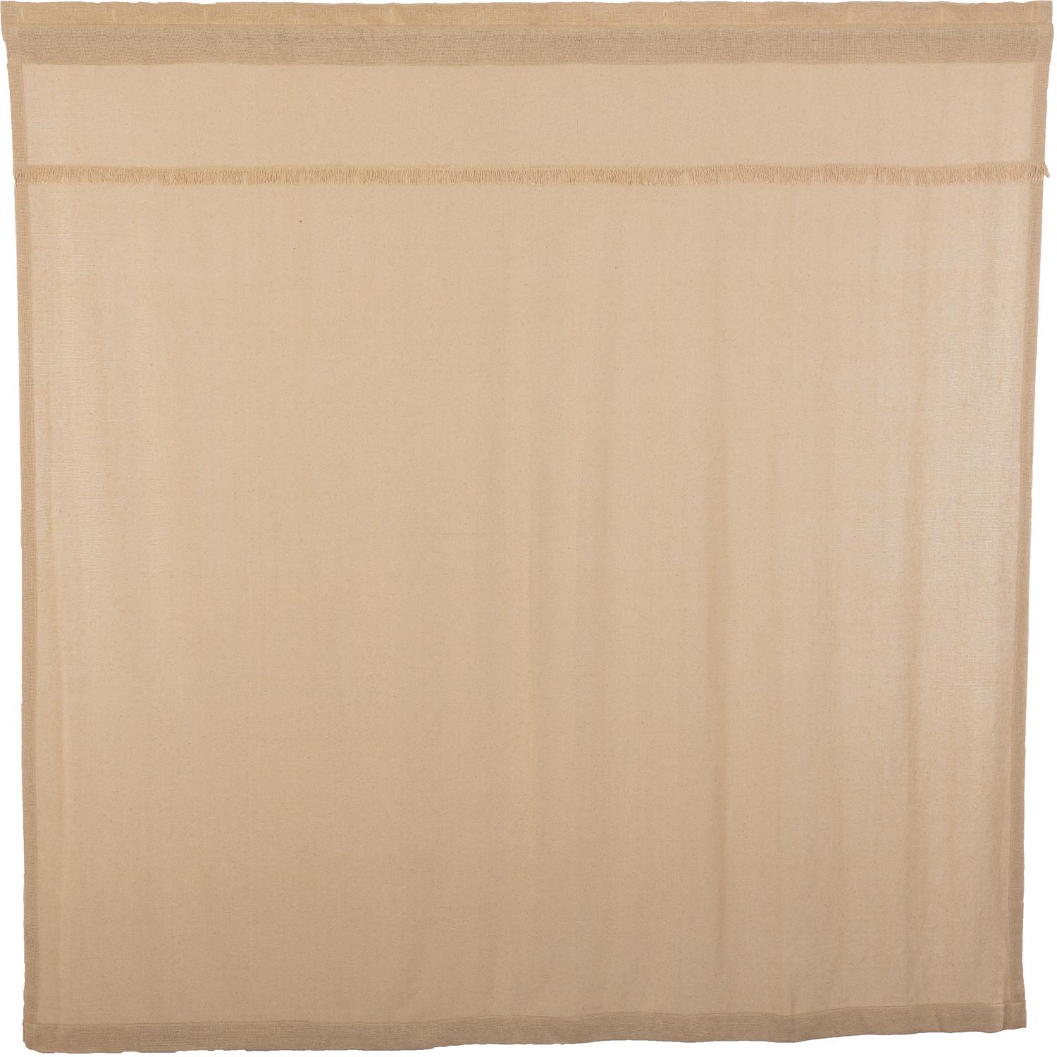 Burlap Vintage Shower Curtain 72x72