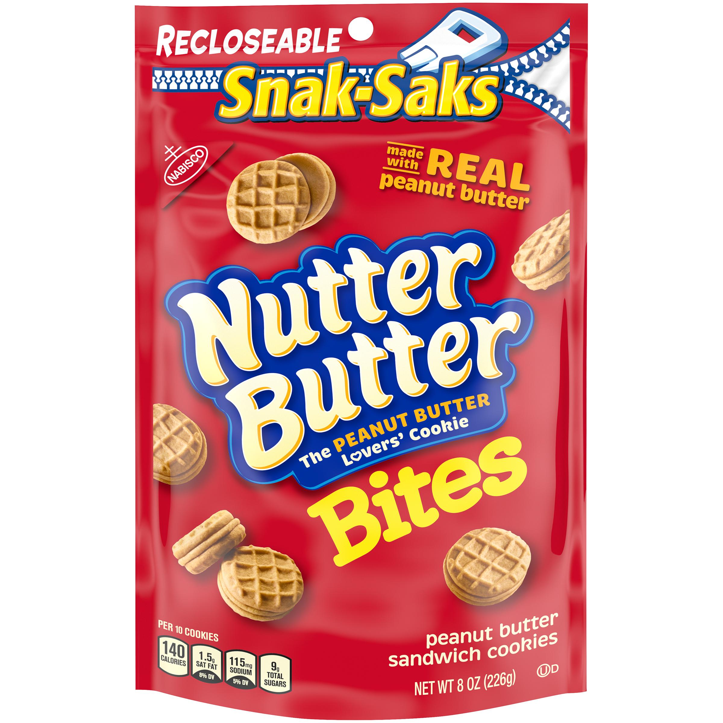 NUTTER BUTTER Bites Lunchbox Cookies Snak Saks 8 oz