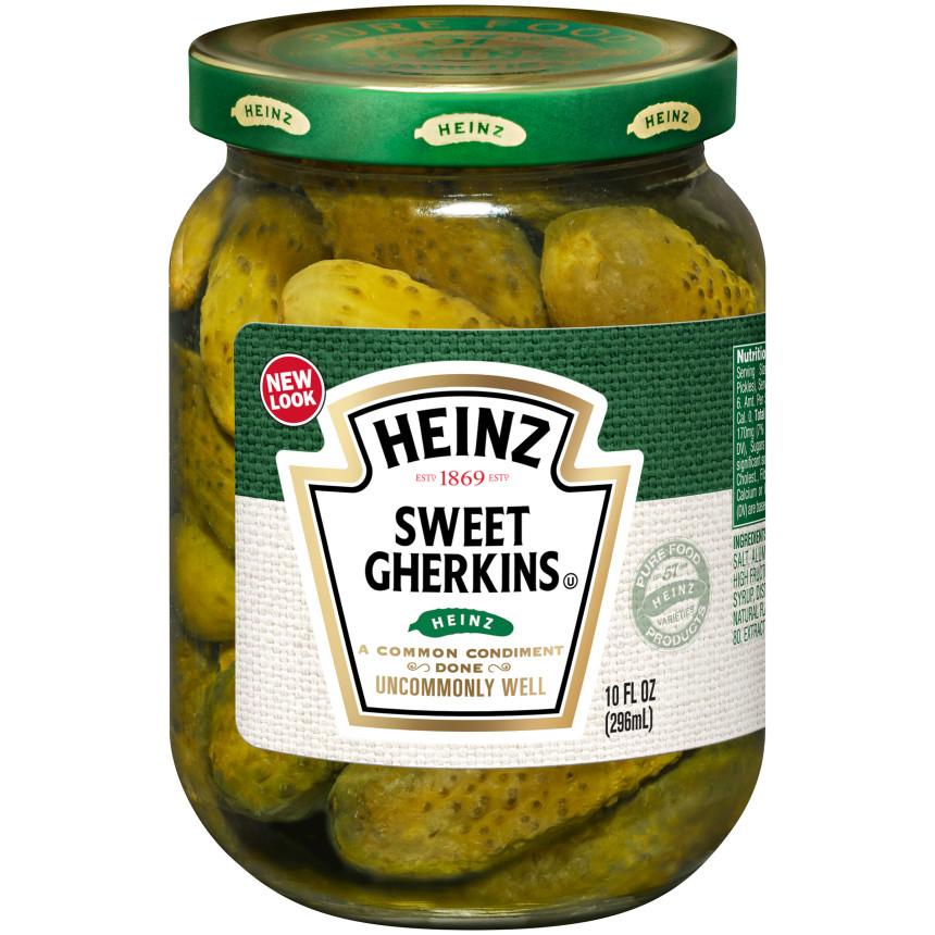 Heinz Sweet Midget Gherkins Pickles 10 fl oz Jar