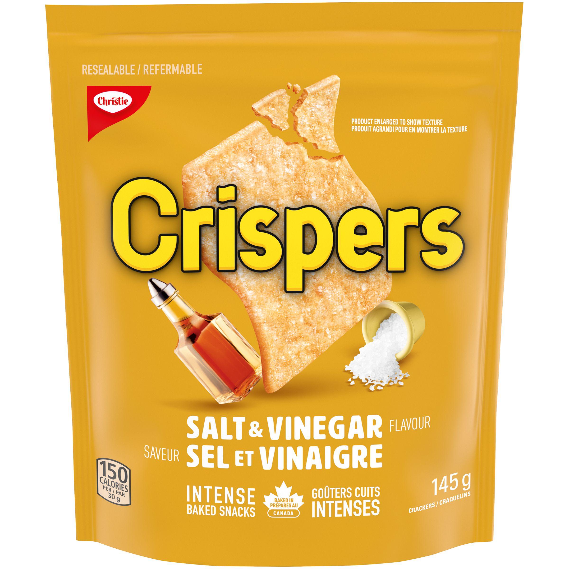 Crispers Salt And Vinegar Crackers 145 G