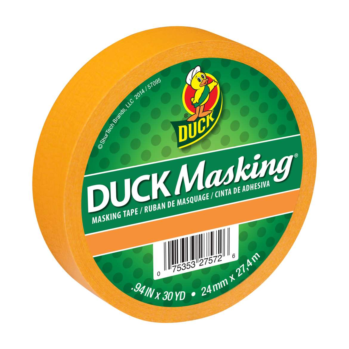 Duck Masking® Color Masking Tape - Orange, .94 in. x 30 yd. Image