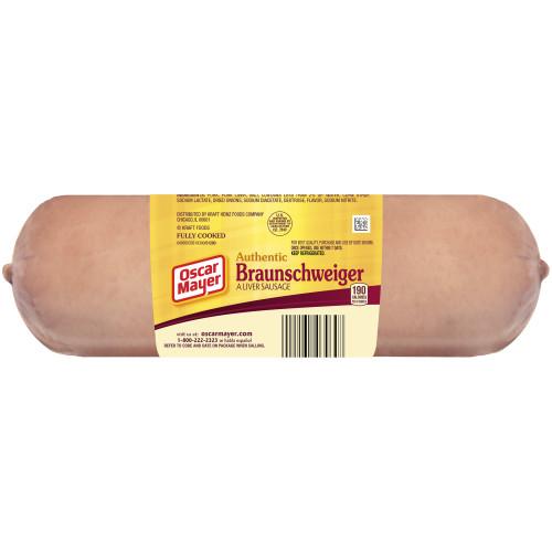 OSCAR MAYER Braunschweiger Liver Sausage 8 oz