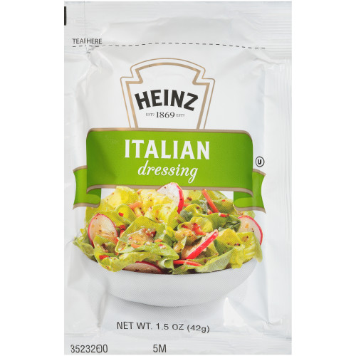 HEINZ Single Serve Italian Salad Dressing Packet, 1.5 oz. Packets (Pack of 60)