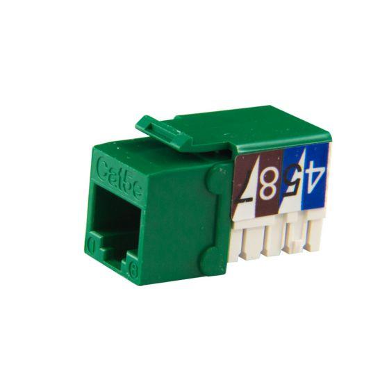 Green Cat5e 90-Deg Keystone Jack Wave Electronics