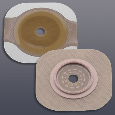 New Image Flextend Colostomy Barrier Trim to Fit, Extended Wear Tape 2-1/4 Inch Flange Red Code Hydrocolloid Up to 1-3/4 Inch Stoma, 14603 - Pack of 5