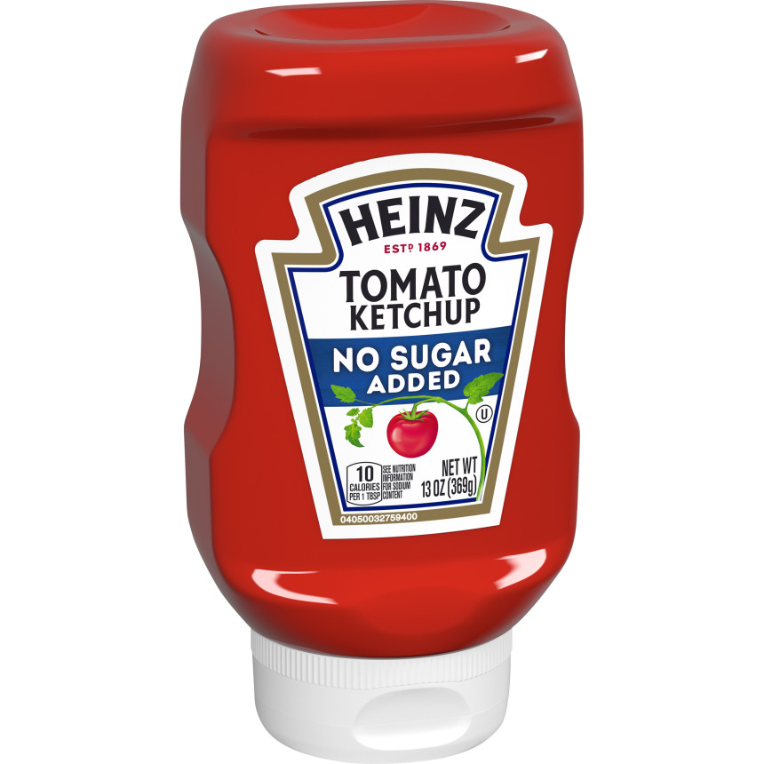Heinz No Sugar Added Tomato Ketchup, 13 oz Squeeze Bottle