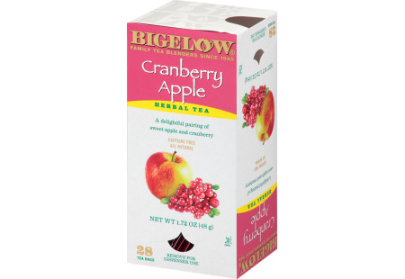 Cranberry Apple Herbal Tea - Case of 6 boxes- total of 168 teabags