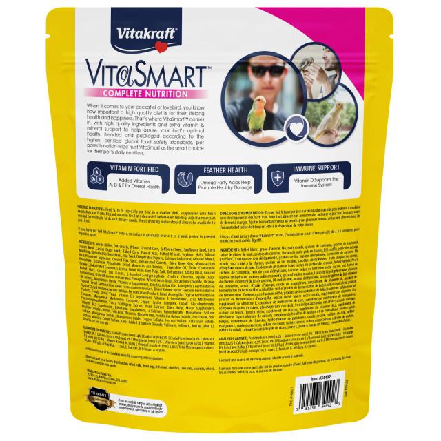Back-Image showing VitaSmart Cockatiel & Lovebird