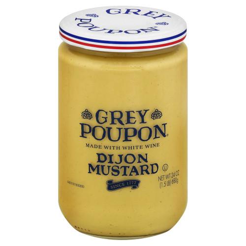 GREY POUPON Dijon Mustard, 24 oz. Jars (Pack of 6)