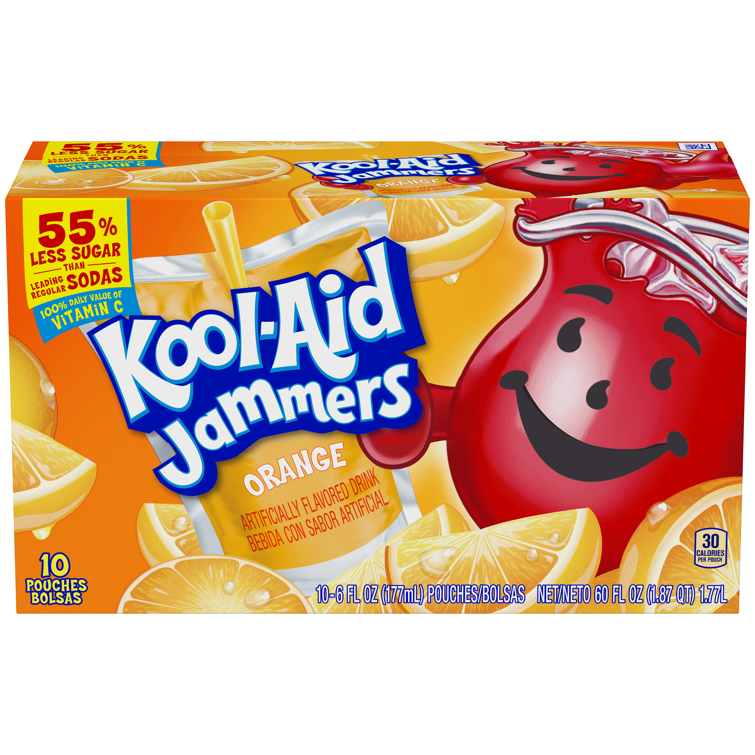 Kool-Aid Jammers Orange Flavored Drink 60 fl oz Box (10-6 fl oz Pouches) image