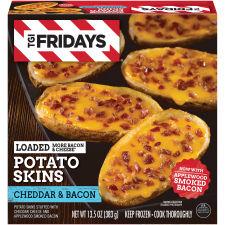 T.G.I Friday's? Loaded Bacon & Cheddar Potato Skin 13.5 oz Box