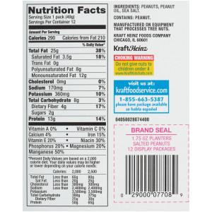 PLANTERS Salted Peanuts, 1.75 oz. Single Serve (Pack of 48) image