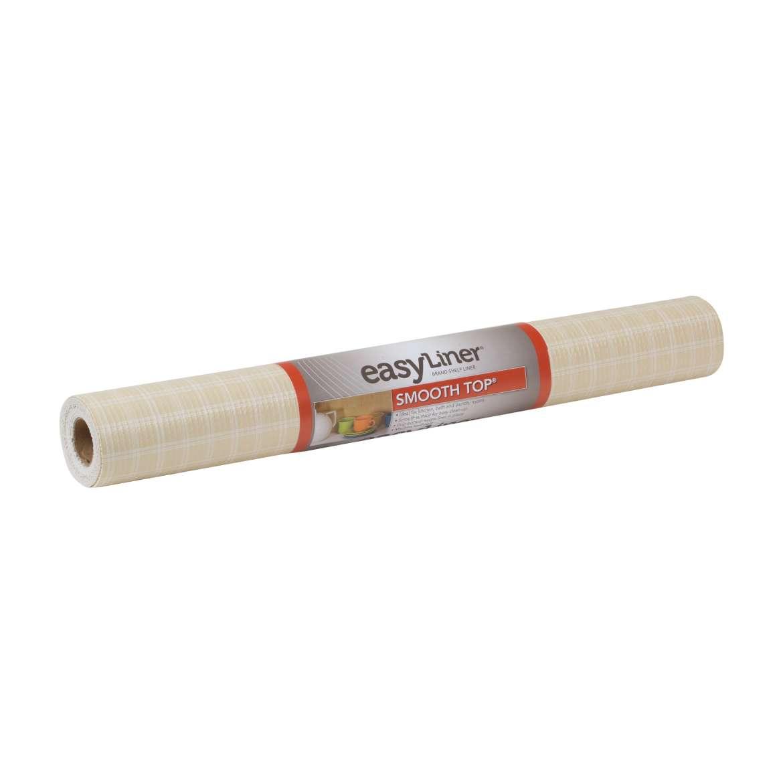 Smooth Top® Easy Liner® Brand Shelf Liner - Plaid Sandstone, 20 in. x 6 ft. Image