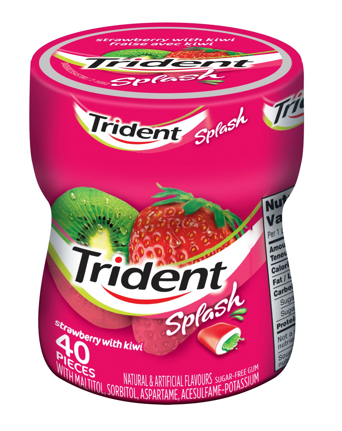 Trident Splash Strawberry Kiwi Gum 40 Count