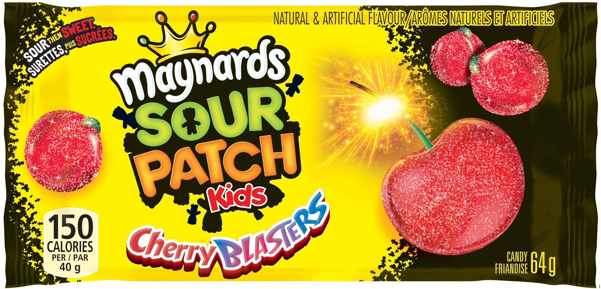 Maynards Sour Patch Kids Cherry Blasters Friandise Molle 64 G