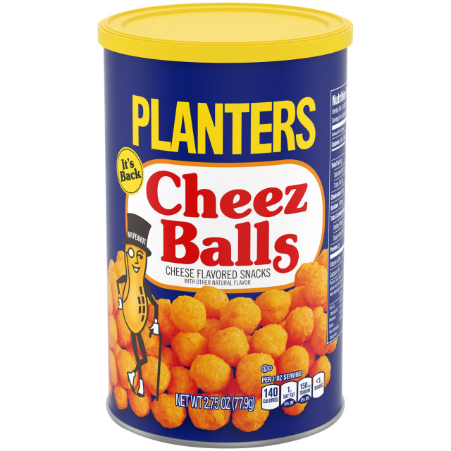 Planters Cheez Balls, 2.75 Ounce Cannister image