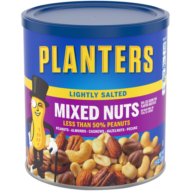 PLANTERS Lightly Salted Mixed Nuts 15 oz Can