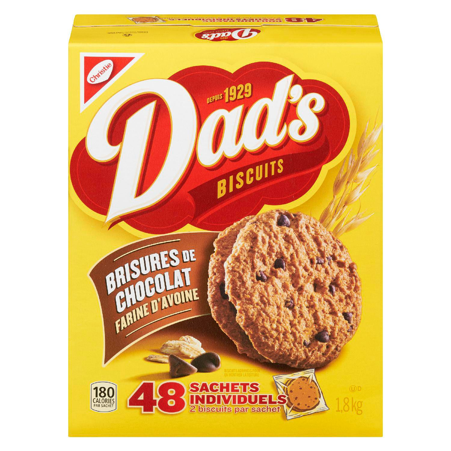 Dads Oatmeal Chocolate Chip Cookies 1.8 Kgm