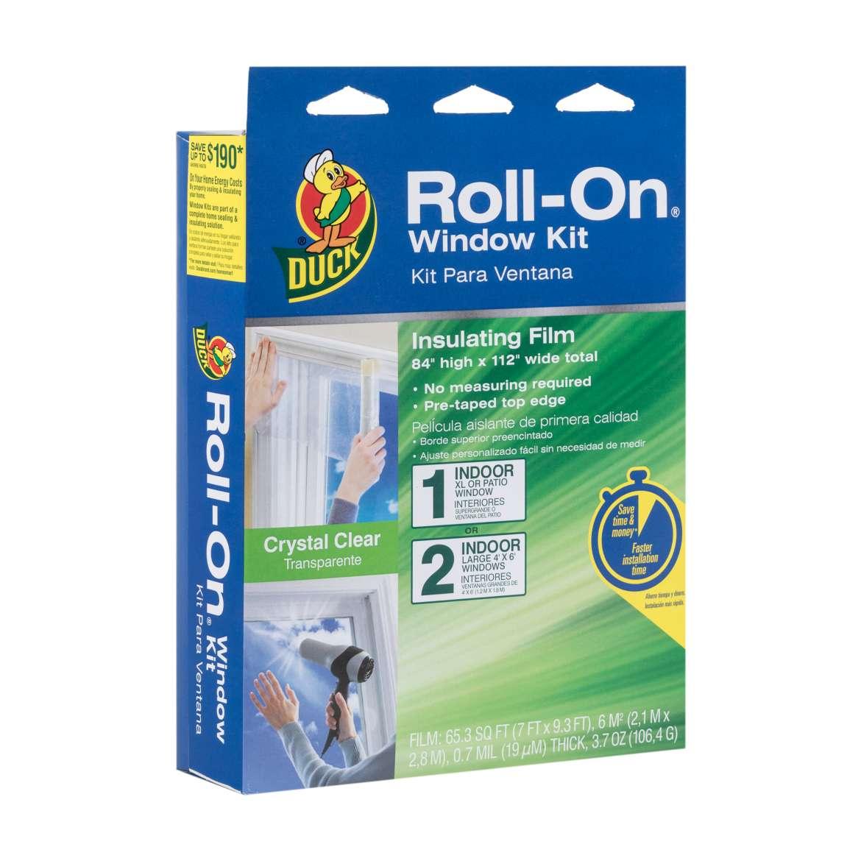 Duck® Brand Roll-On® Window Insulation Film Kit - Indoor, 84 in. x 112 in. Image