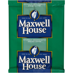 MAXWELL HOUSE Blend Roast & Ground Decaf Coffee, 0.9 oz. Packet (Pack of 80) image