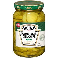 Heinz Hamburger Dill Chips Pickles 16 fl oz Jar image