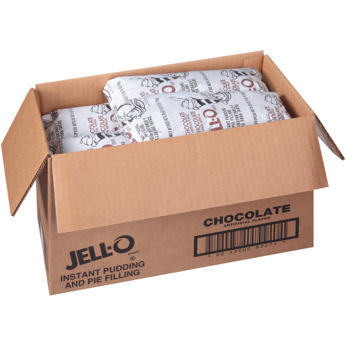 JELL-O Chocolate Instant Pudding & Pie Filling, 28 oz. Pouch (Pack of 12)