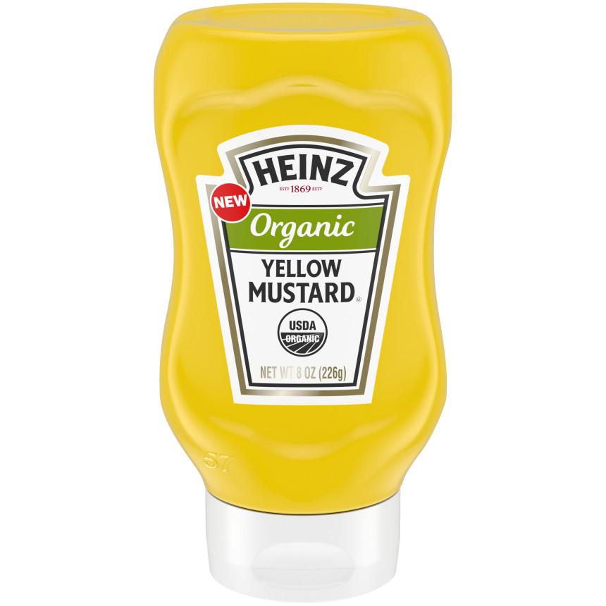 Heinz Organic Yellow Mustard 8 oz Bottle