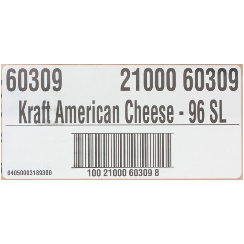 KRAFT American Sliced Cheese (96 Slices), 5 lb. (Pack of 4)