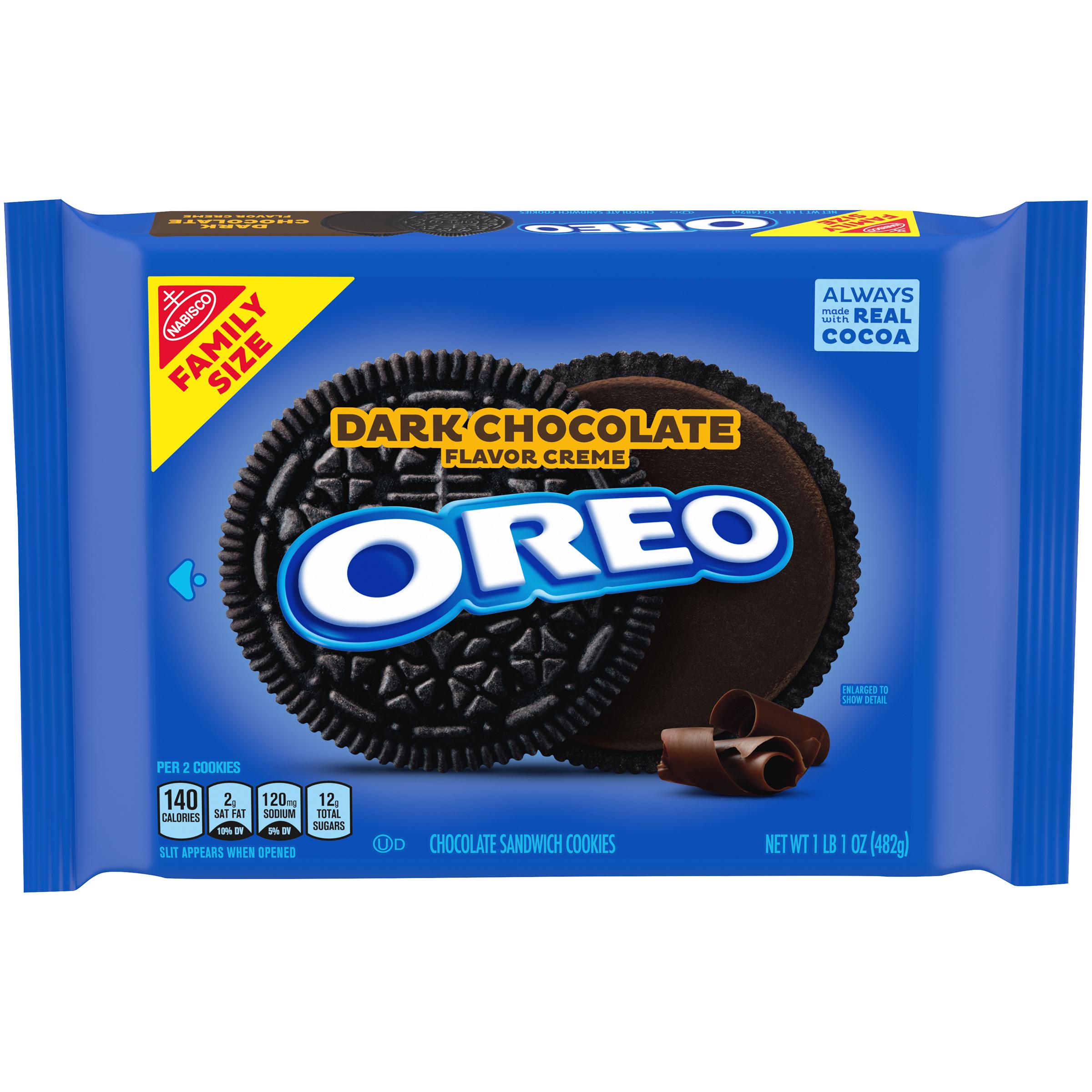 OREO Dark Chocolate Sandwich Cookies 17 oz
