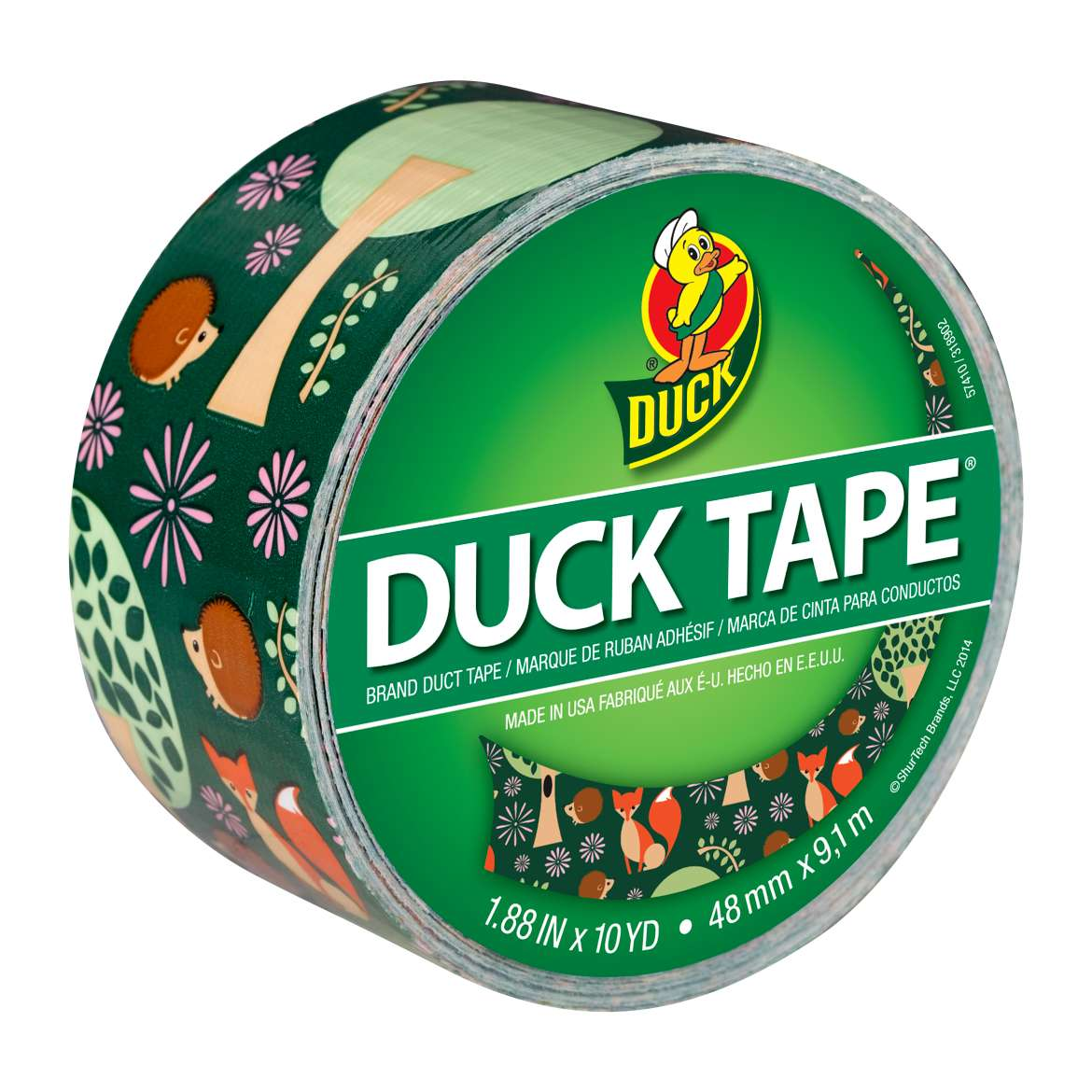 Printed Duck Tape® Brand Duct Tape - Forest Friends, 1.88 in. x 10 yd. Image