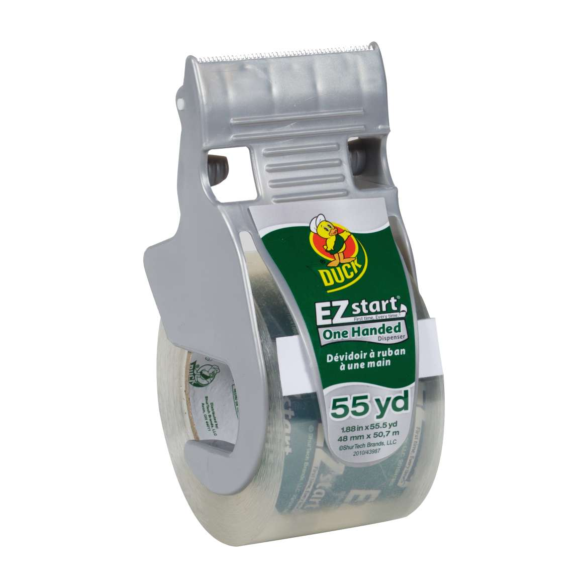 EZ Start® Packaging Tape with One-Handed Dispenser - Clear, 1.88 in. x 55.5 yd. Image