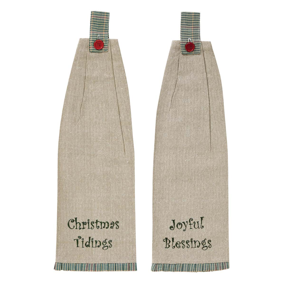 Tidings Button Loop Kitchen Towel Set of 2
