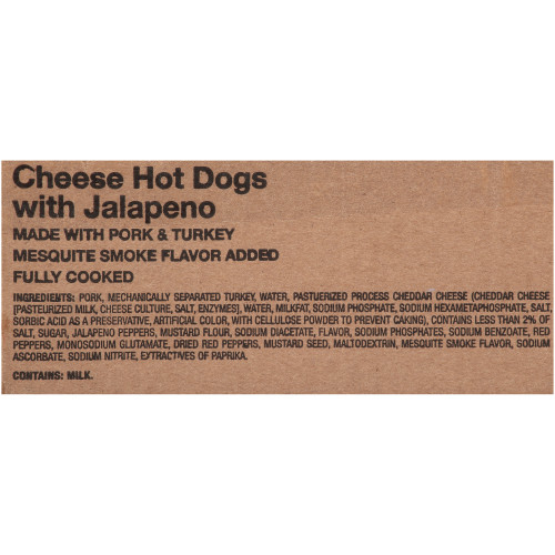 Oscar Mayer Jalapeno & Cheese Hot Dogs, 5 lb.