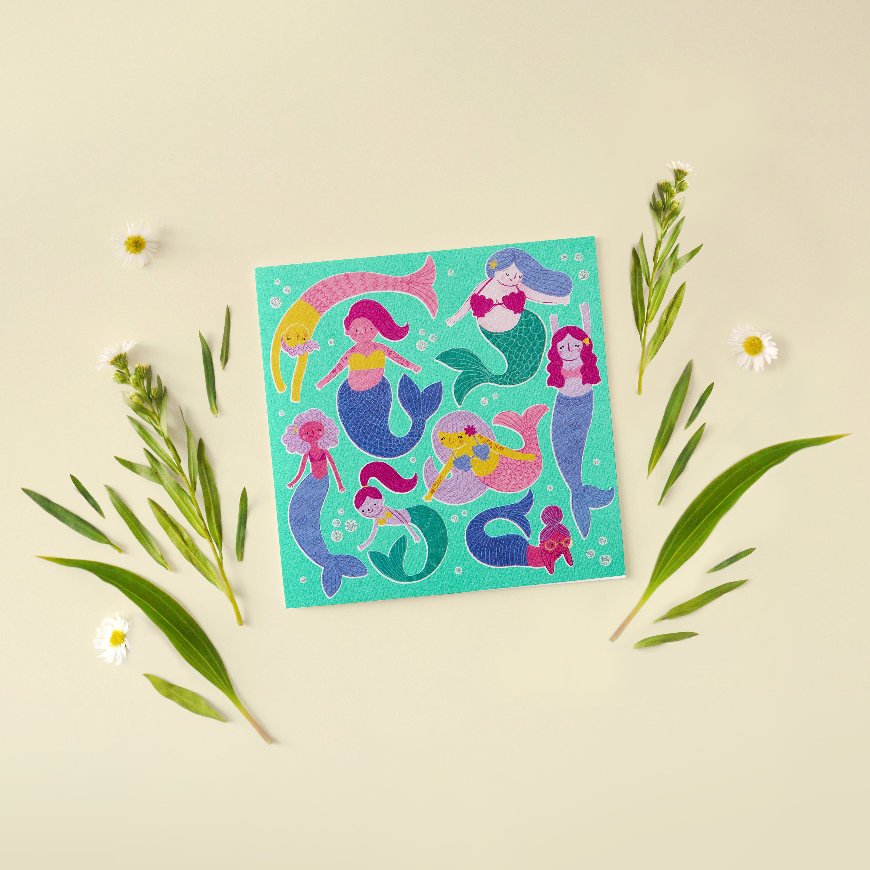 Mermaids Blank Greeting Card - Friendship, Thinking of You image