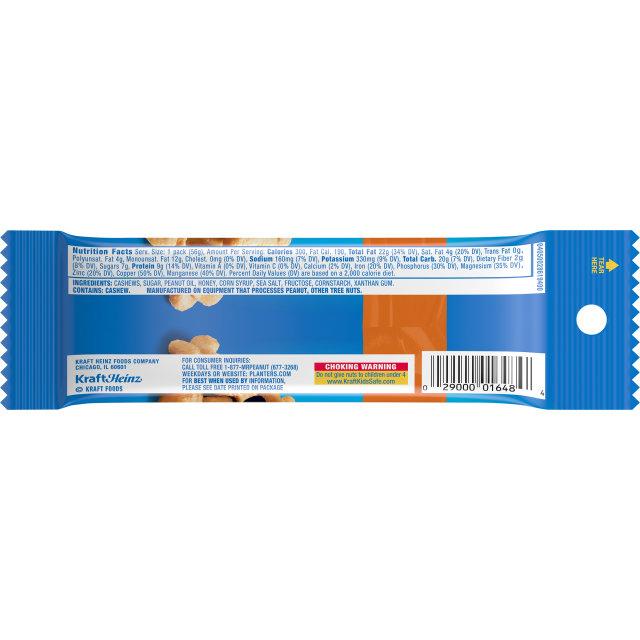 PLANTERS Honey Roasted Cashews 2 oz Bag