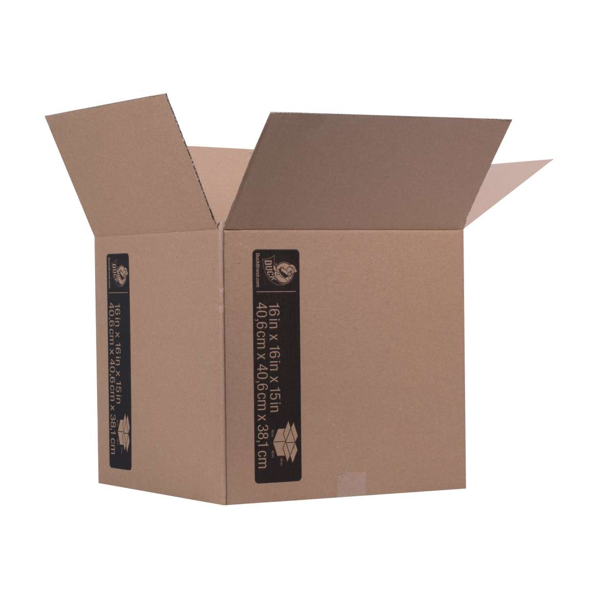 Duck® Brand Kraft Box - Brown, 16 in. x 16 in. x 15 in. Image