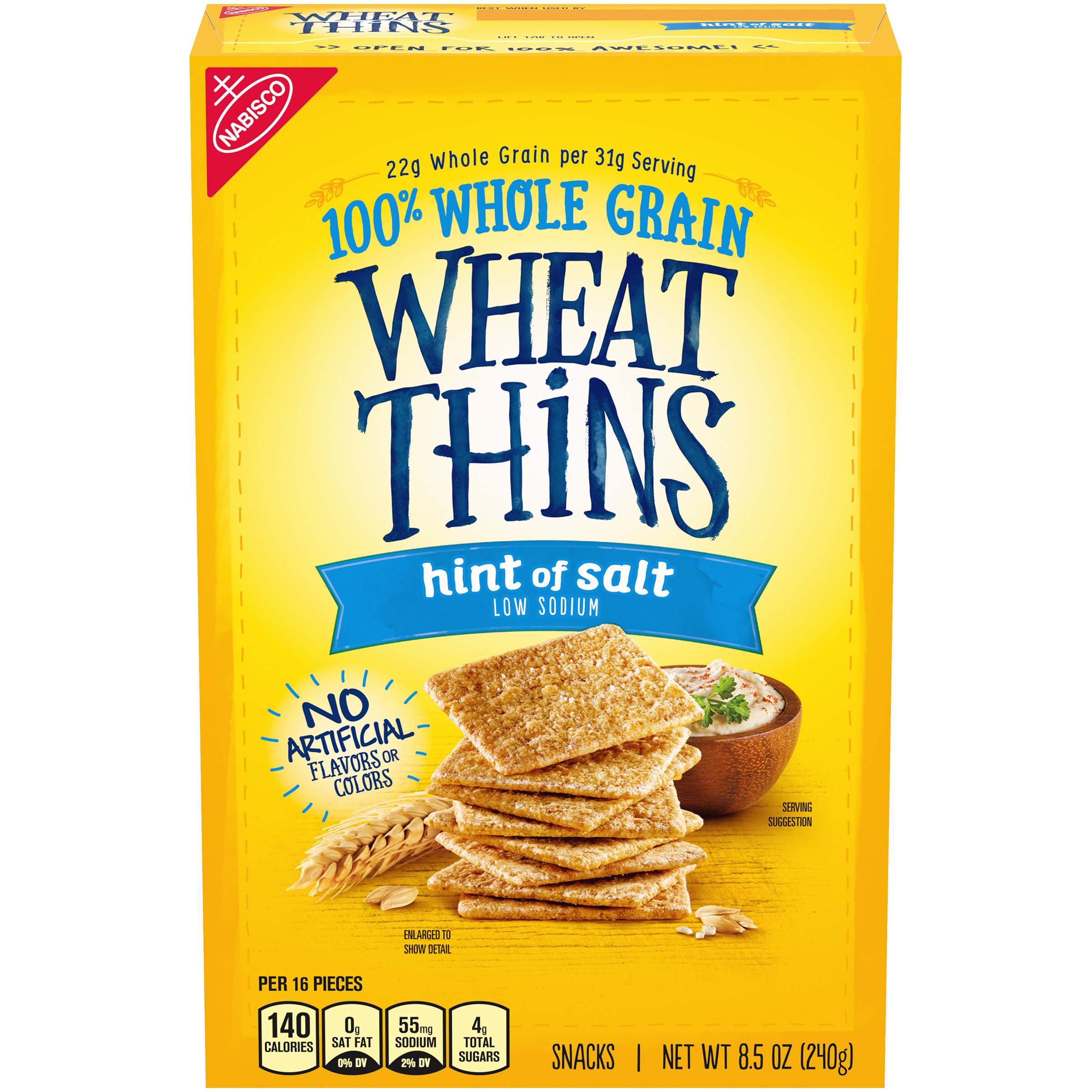WHEAT THINS Hint Of Salt Crackers 8.5 Oz