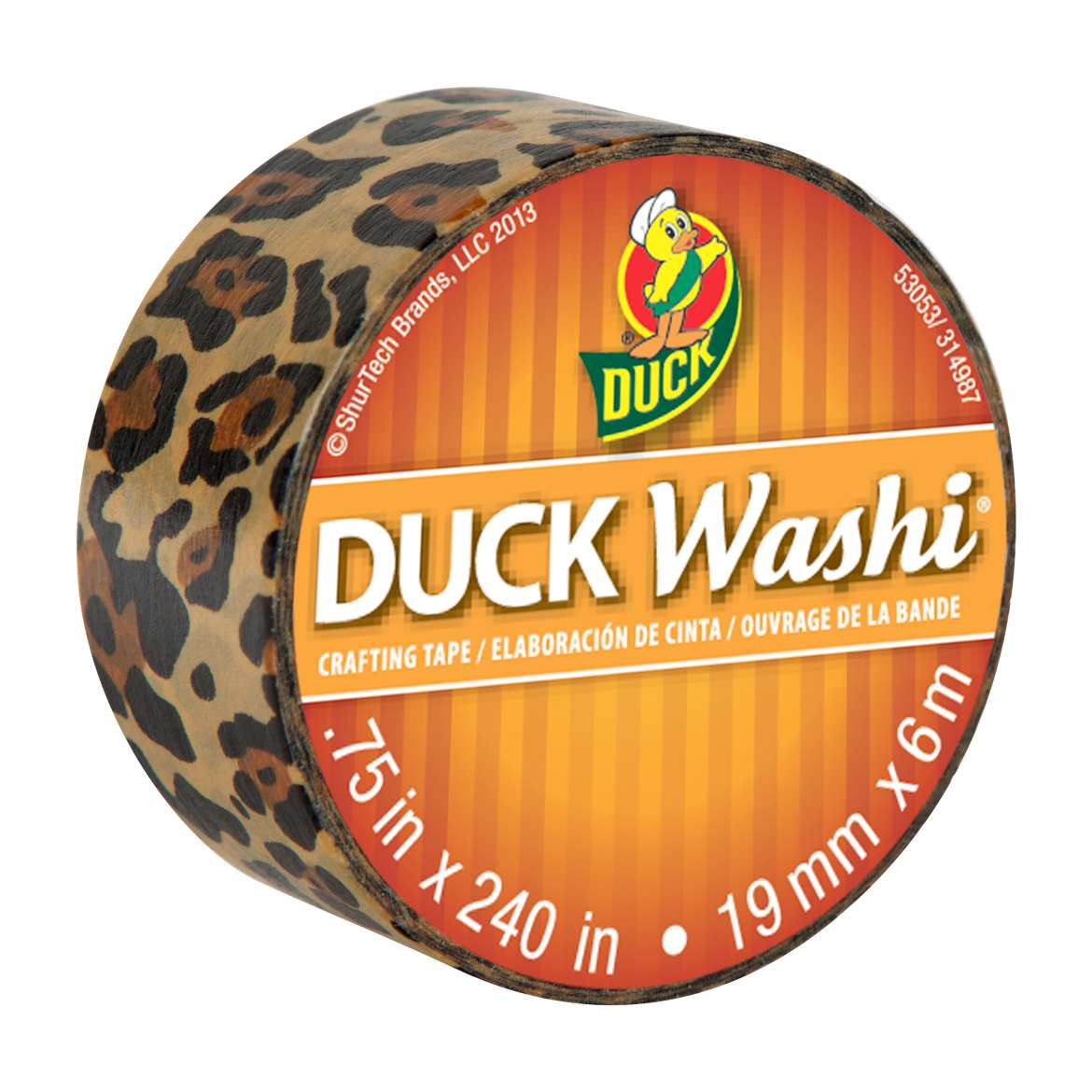 Duck Washi® Crafting Tape - Wild Leopard, .75 in. x 240 in. Image