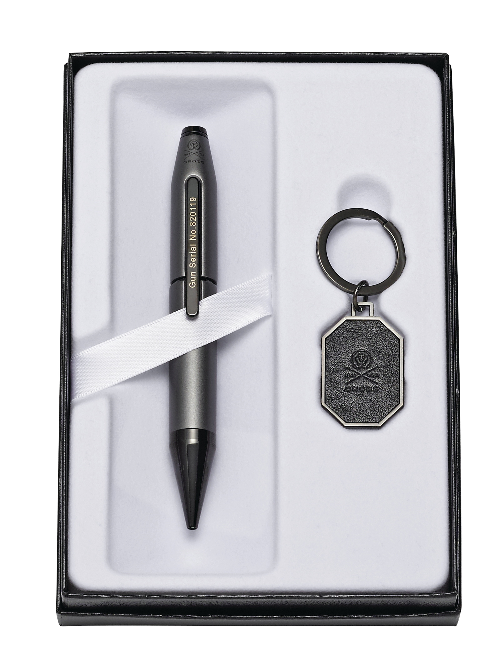 Cross X Gunmetal Gray Liberty United Pen with Liberty United Key Ring Gift Set