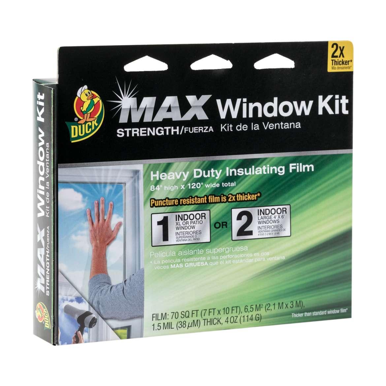 Duck® Brand Heavy-Duty Window Kit - Clear, 84 in. x 120 in. Image