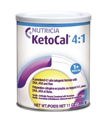 KetoCal 4:1 Vanilla Flavor 300 Gram Can Powder, 101777 - EACH
