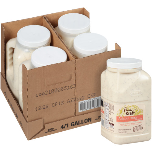 KRAFT Pure Asiago Caesar Dressing, 1 gal. Jugs (Pack of 4)