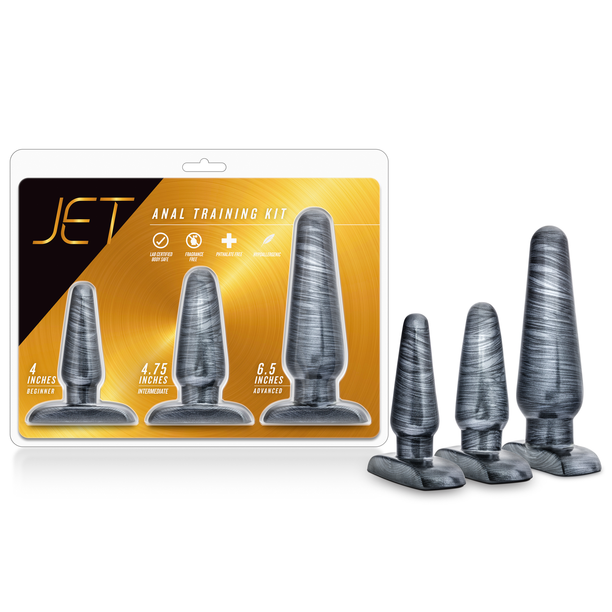 Jet - Anal Trainer Kit - Carbon Metallic Black