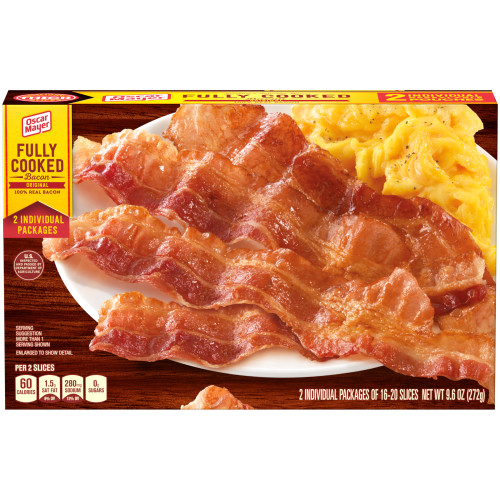 Oscar Mayer Original Fully Cooked Bacon Box, 9.6 oz