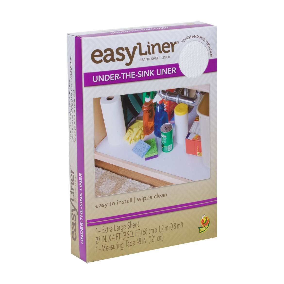 Easy Liner® Under-the-Sink Liner - White, 27 in. x 4 ft. Image