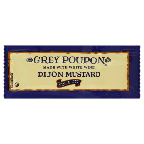 GREY POUPON Single Serve Dijon Mustard, 0.25 oz. Packets (Pack of 200)