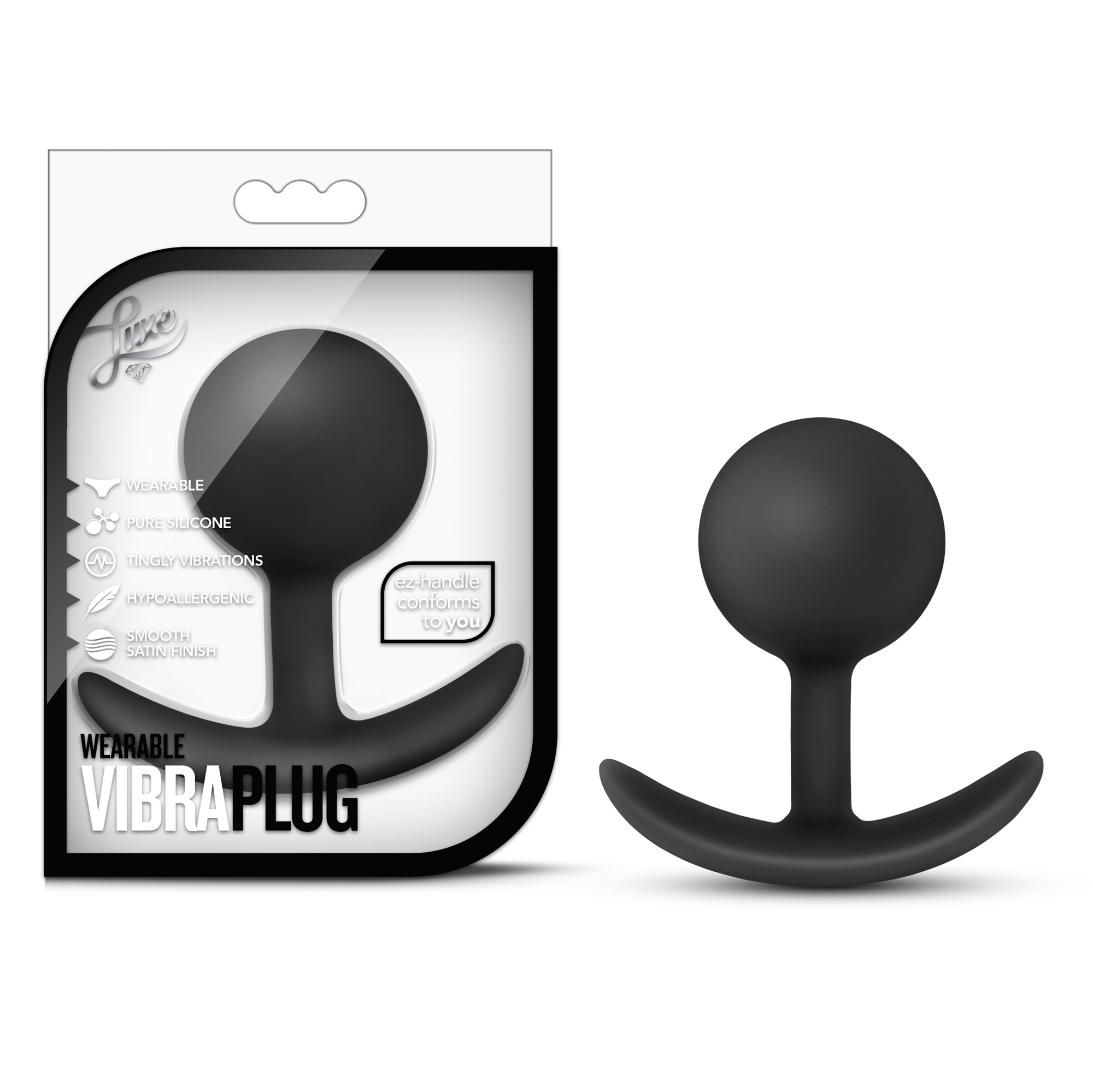 Luxe - Wearable Vibra Plug - Black